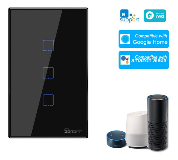 Sonoff T3us3c-tx Interruptor De Luz De Pared Wifi Inteligent