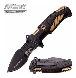 Canivete Tatico Sobrevivencia Mtech Fire Fighter Gold