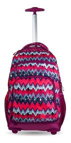 Mochila De Carrinho Escolar Juvenil Troca-frente Tie Dye