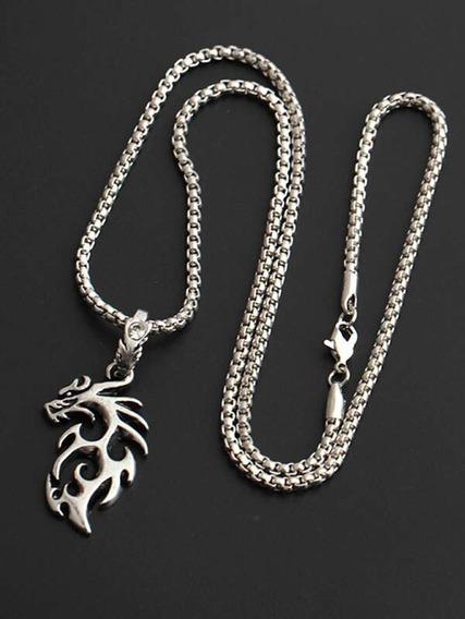 Collar Colgante Con Diseño De Dragón