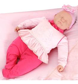 Saída De Maternidade Paraiso Feminina Malha Fio 30 Goiaba