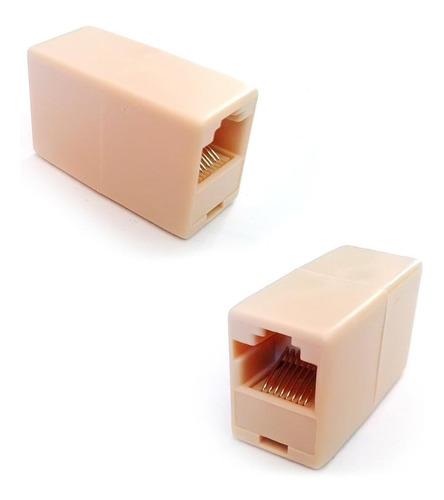 Copla Adaptador Rj45 Hembra Hembra Para Extension Cables Red