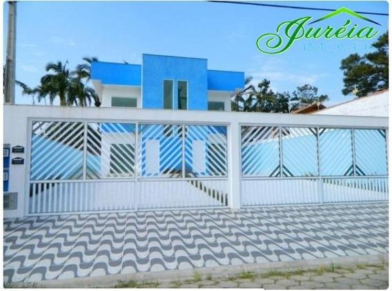 Casa Em Bairro Residencial, 2 Dormitórios A 2500 M Da Praia.