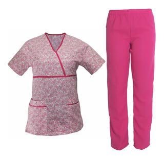 Conjunto Estampado Filipina Y Pantalon Rosa
