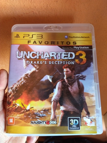 Uncharted 3 Ps3 Original Midia Fisica Semi Novo
