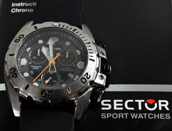 Relógio Sector 600 Em Titanium - Diver 200 Metros - Raro