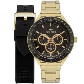 Relógio Technos Masculino Skymaster 6p29aka/t2p + Pulseira