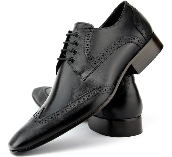 Sapato Oxford Masculino Social Solado De Couro De Amarrar