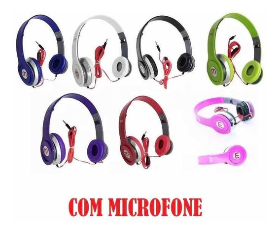 Fone De Ouvido Headphone Com Fio 10 Peças