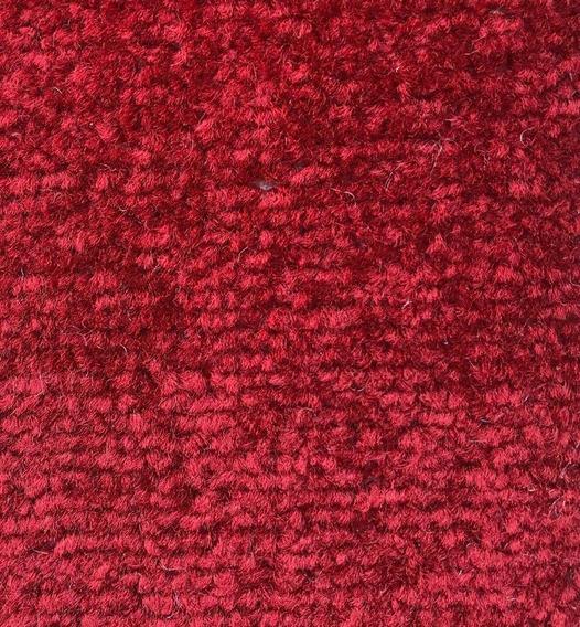 Alfombra Carpeta Pelo Cortado Color Bordó 200x250cm Kreatex