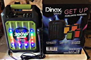 Parlante + Microfono Con Bateria 300 Wt