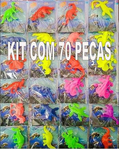 Kit Com 70 Bichos Gel Dinossauro  Cresce Na Aguá Sem Ovo