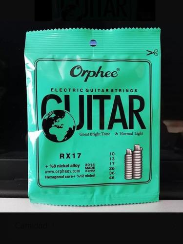 Cuerdas Para Guitarra Eléctrica Marca Orphee