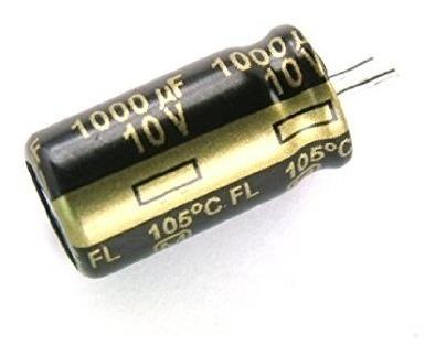 5 Unidades Capacitor Eletrolítico 1000uf 10v