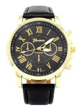 Romanos Negro Oro | Reloj Elegante