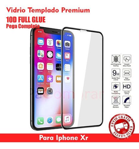 Vidrio Templado 10d Full Glue iPhone XR