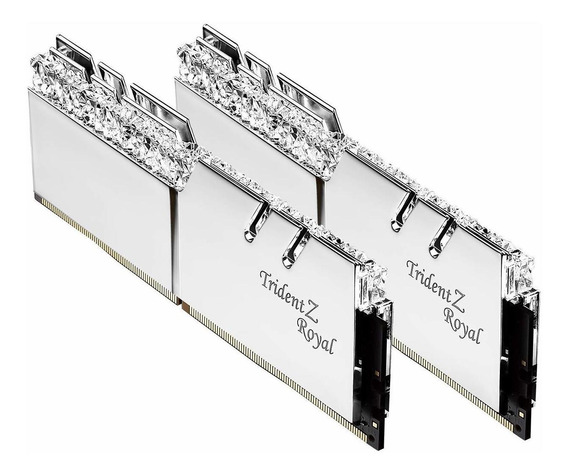 Memoria Ram 16gb G.skill Trident Z Royal Series Silver (2 X 8gb) 288-pin Rgb Ddr4 4266 (pc4 34100) Dimm F4-4266c19d-16gt