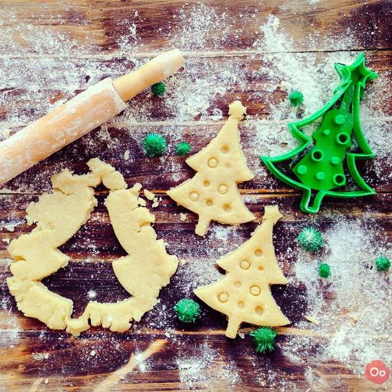 Cortador De Biscoito Biscuí Massa Arvore Natal