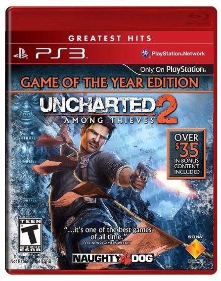 Uncharted 2 Among Thieves Goty Ps3 Original Mídia Física