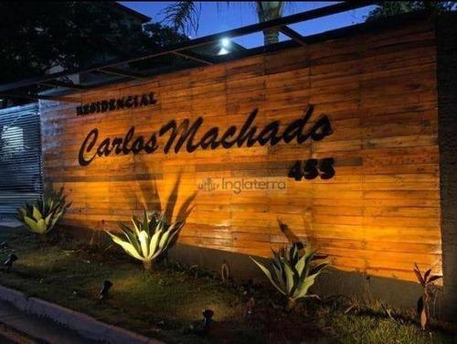 Apartamento No Residencial Carlos Machado Com 2 Dormitórios À Venda, 50 M² Por R$ 130.000 - Nova Olinda - Londrina/pr - Ap1759
