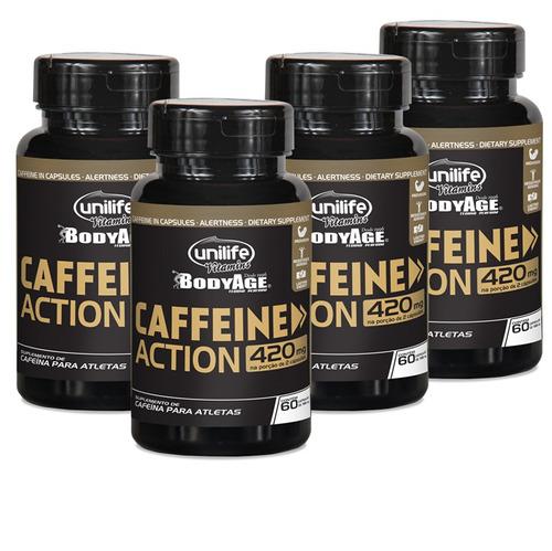 Kit 4 Cafeina De 60 Capsulas Total De 240 Capsulas