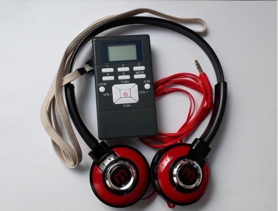 Tradução Simultânea -rádio Receptores 150 Unid. Digitais Fm