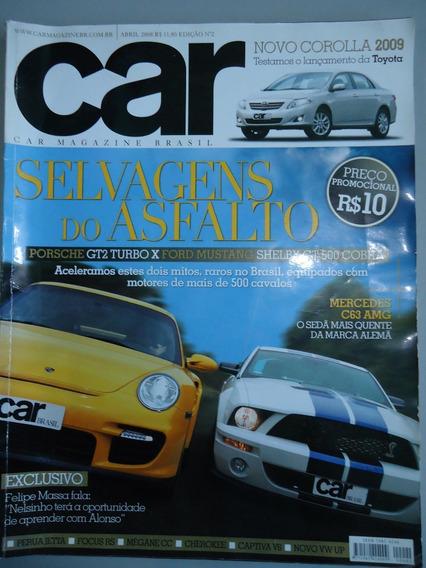 Revista Car Magazine Brasil 2 - Porsche Gt2 - Ford Mustang