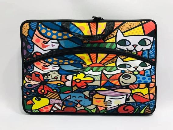 Capa Case P Notebook Estampada Asbtrato Marrom 15.6 Bolsa