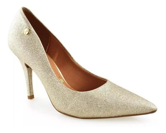 Scarpin Vizzano Glitter Dourado