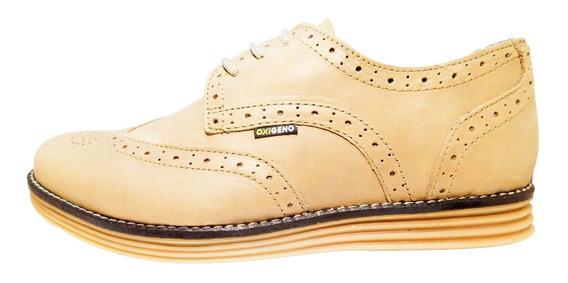 Zapato Hombre Cuero Elegante Sport Oxígeno Art 132 T 39 A 44