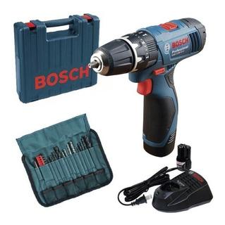 Parafusadeira E Furadeira Gsb 1200-2-li + Kit 23 Peças Bosch