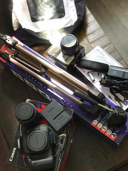 Kit Youtuber T6i Original Da Canon Completo (pouco Uso)