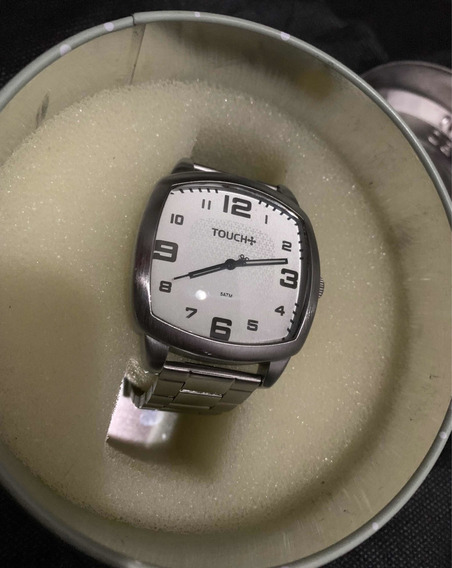 Relógio Touch Em Aço