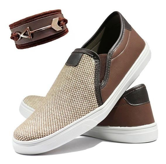 Sapato Sapatenis Tênis Iate Kit Com Pulseira 12x Juros