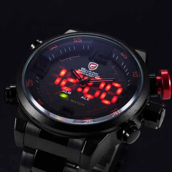 Relógio Masculino Esportivo Shark Sh106 Led Pronta Entrega
