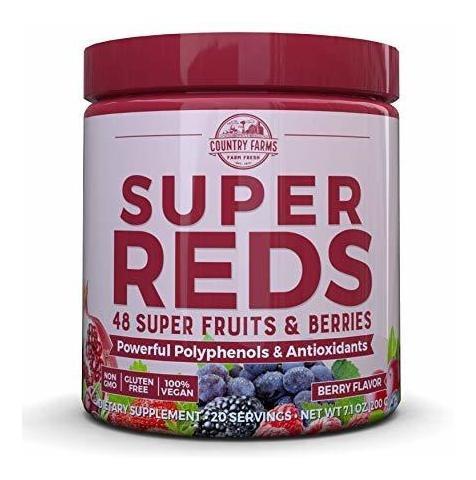 Super Reds Antioxidantes, Country Farms,  20 Porciones
