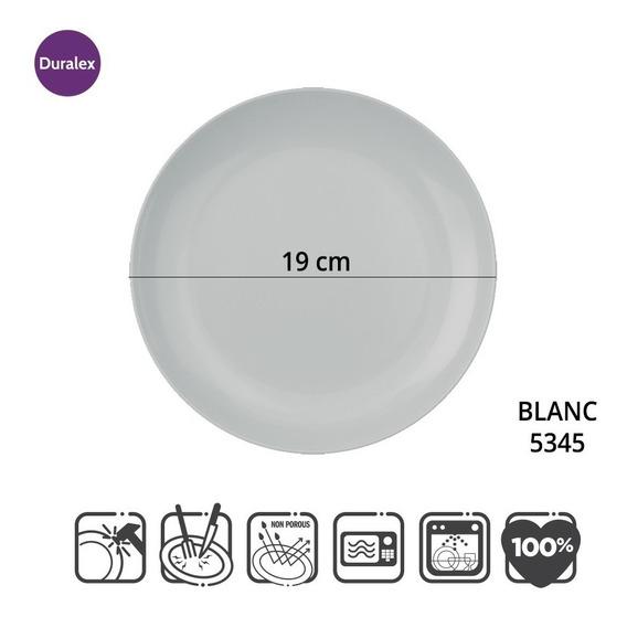 Set 6 Platos Postre Duralex Blanc Vidrio Templado 534502