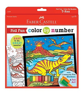 Color By Number Love Art Kit De Pintura T Rex Foil Fun