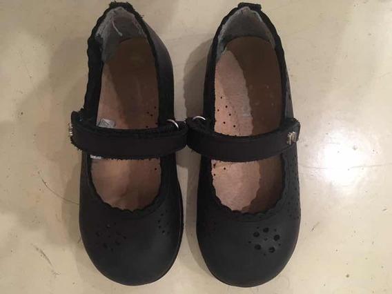 Zapatos Colegiales Nena Marcel Cuero C/detalles Poco Uso