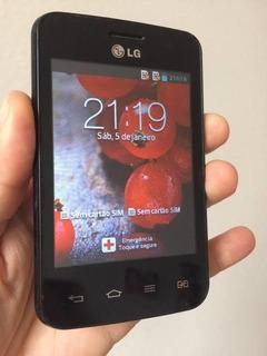 Celular LG Optimus L3 Ii Dual E435 Preto Semi Novo..