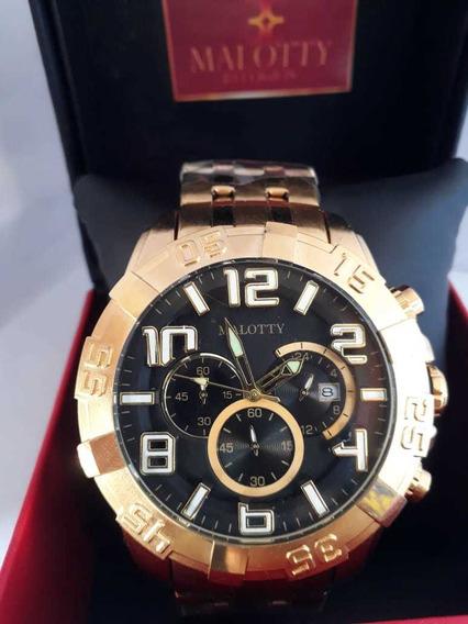 Relógio Malloty Ponteiros Multifuncional