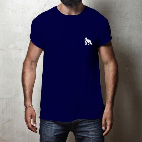 Camiseta Lobo Branco Vip Classic Azul Marinho