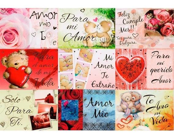 Maxicard X45 Unidades Tarjetas Romanticas Amor Enamorados