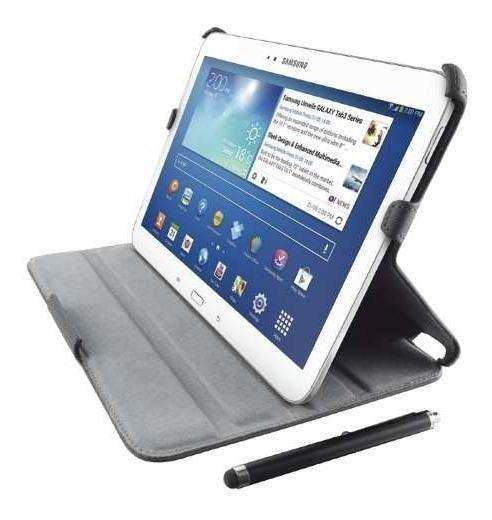 Capa Case Galaxy Tab 3 8.0 Trust Couro + Caneta Stylus