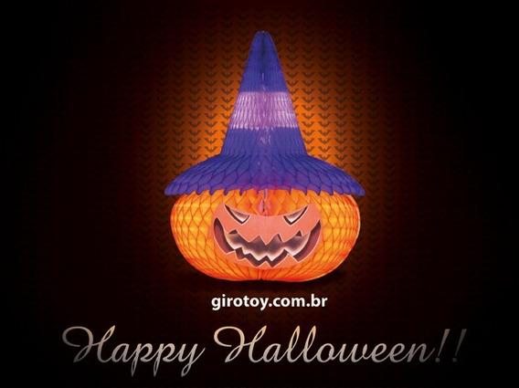 Decoração Festa Halloween Cabeça De Abóbora 480mm