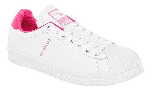 Neosport Sneaker Escolar Sintético Blanco Niña C98896 Udt