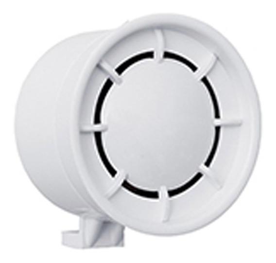 Sirene 12 Volts Branca Pequena Alarmes Residenciais Bitonal