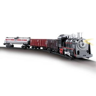 Trem Locomotiva Com Pista 85cm Com Luz E Som - Dm Toys