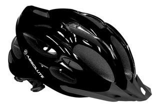 Capacete Ciclismo Bike Absolute Nero Led Pisca Viseira Mtb