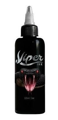 Tinta Viper Ink 120ml Preto Tribal Tatuagem Tattoo + Brinde